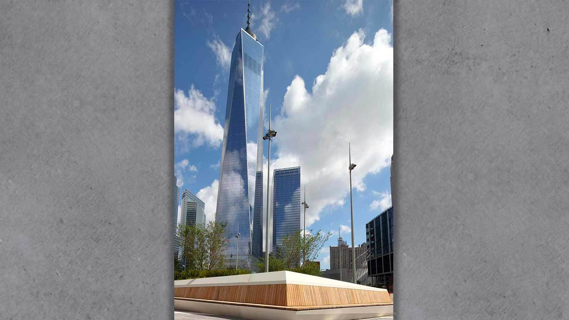 Architectural & security concrete: New World Trade Center